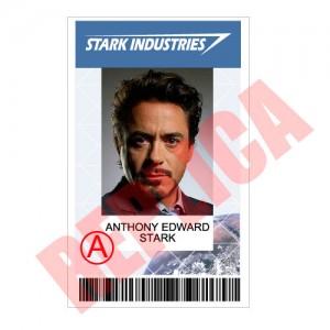 Replica Identificación Anthony Stark