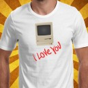 camiseta I love you Mac apple